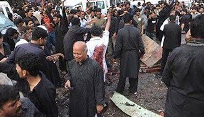 حمله تروریستی به عزاداران حسین (ع) در پاکستان