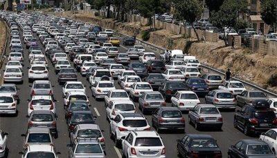سه میلیون و ۳۸۶ هزار وسیله نقلیه شخصی به سفر رفتند