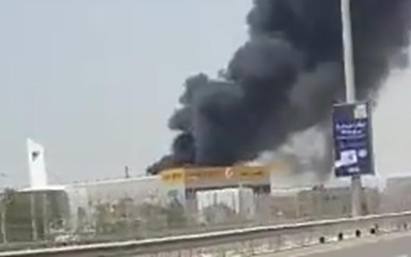 وقوع آتشسوزی در بندر «جبل علی» در دبی