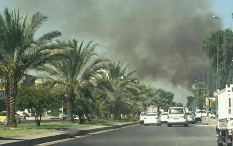 وقوع آتشسوزی در دانشگاه بغداد