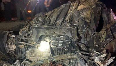۸ نفر در آتشسوزی خودرو در جهرم فارس جان باختند