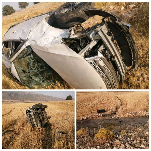 مرگ پدر و پسر در سقوط خودرو به پرتگاه
