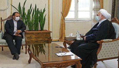دیدار وزیر اقتصاد و رئیس قوه قضاییه