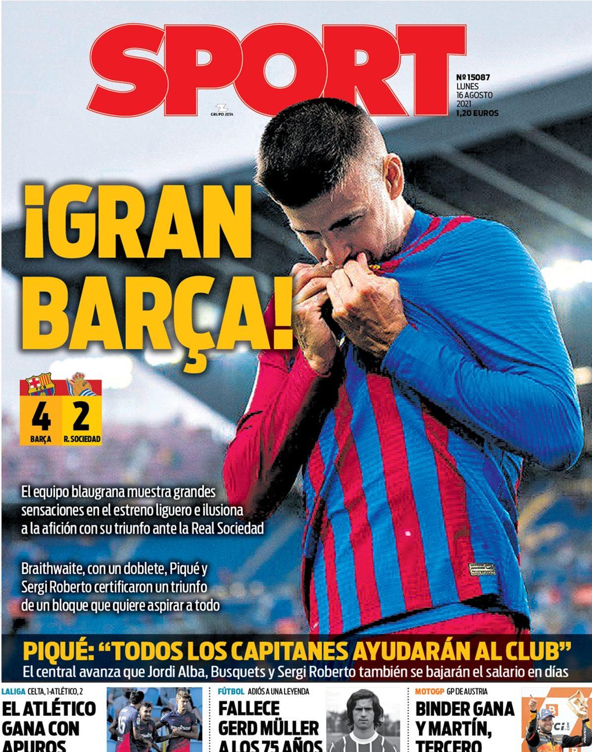 واکنش جالب مطبوعات اسپانیا به برد بارسلونا بدون مسی / تصاویر