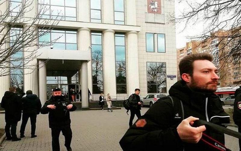 تهدید به بمب گذاری در دادگاه شهر مسکو
