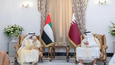 امیر قطر و مقامات امارات و مصر در بغداد ملاقات کردند