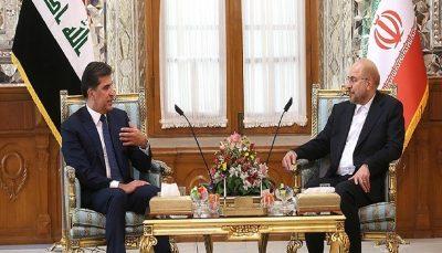 دیدار قالیباف با رئیس اقلیم کردستان عراق