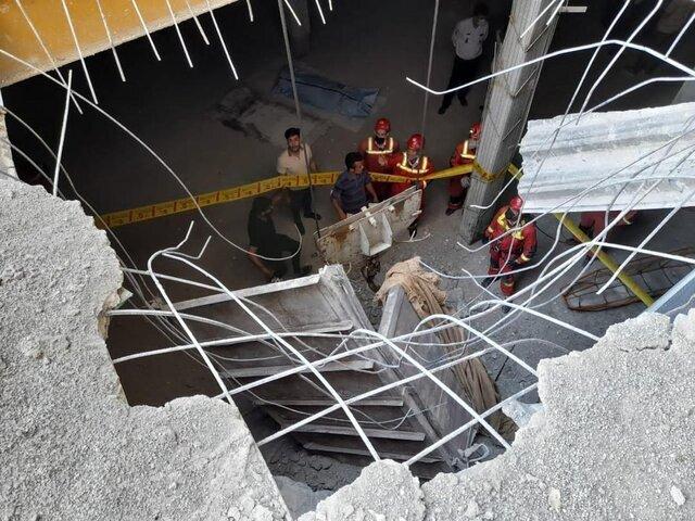 سقوط اتاقک جرثقیل از طبقه شانزدهم یک برج در تهران