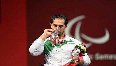 مدال نقره وزنه برداری پارالمپیک برای ایران