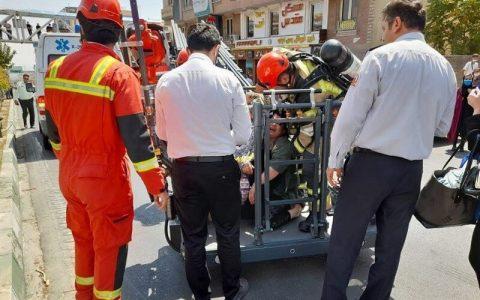 آتشسوزی گسترده در کارگاهی در خیابان قزوین