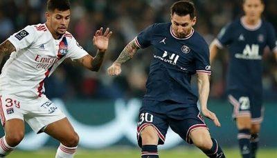 اعتراض مسی به تعویض در بازی بزرگ لیگ فرانسه