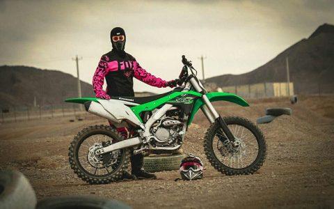 بانوی موتورسوار ایرانی در مسابقات موتورکراس جهان