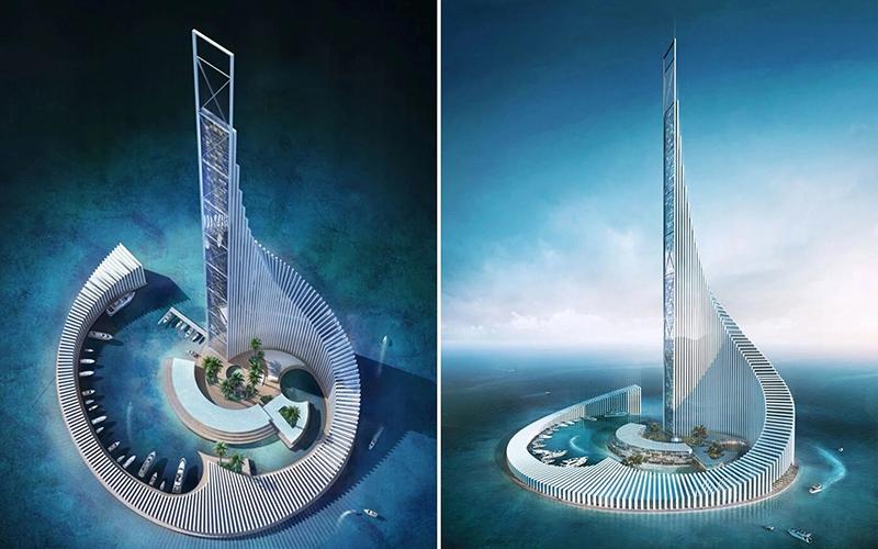 برج تجاری زنگبار؛ طراحی برج آفریقایی با الهام از بازی دومینو