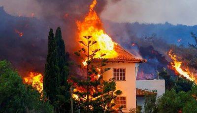 تخریب ده ها خانه بر اثر فوران آتشفشان در جزایر قناری