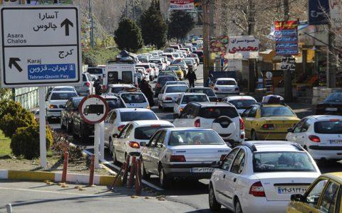 ترافیک در کندوان و آزادراه کرج-قزوین