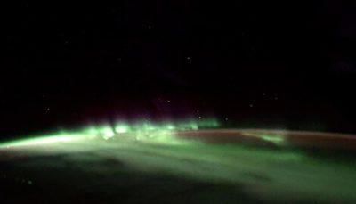 تصاویر ارسالی توما پسکه از شفق قطبی از فضا
