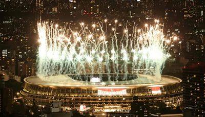 جشن آتشبازی برای خداحافظی توکیو با بازیهای پارالمپیک ۲۰۲۰