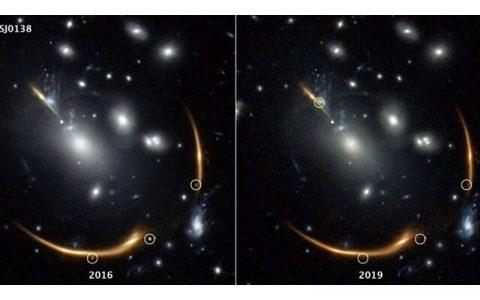 درخشش دوباره یک ابرنواختر در سال ۲۰۳۷