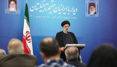 رئیسی در جمع ایرانیان مقیم تاجیکستان
