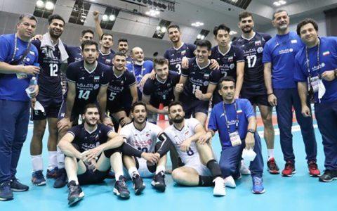 صعود والیبال ایران با صدرنشینی