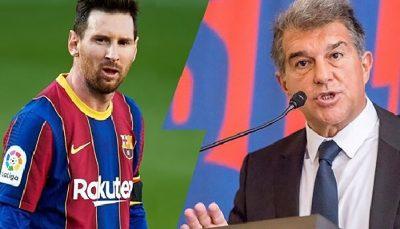 لاپورتا خبر داد؛احتمال بازگشت مسی به بارسلونا