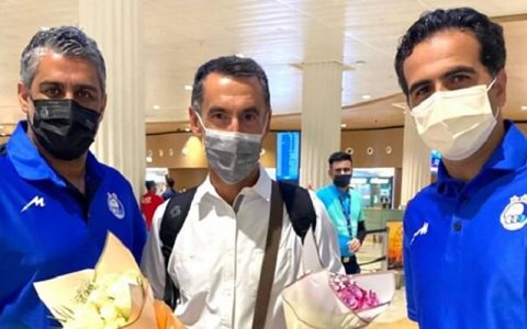 مربی جدید استقلال به دوبی رسید