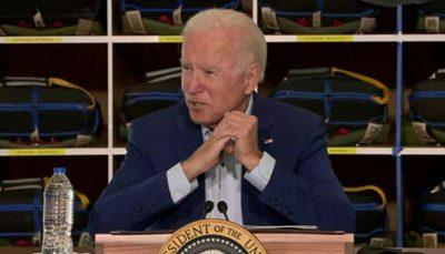 کاخ سفید پخش سخنرانی بایدن راقطع کرد