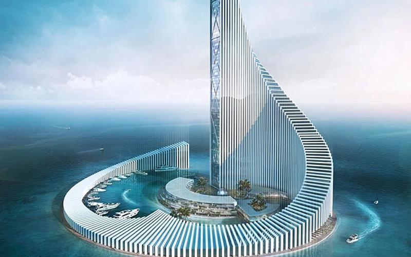 برج تجاری زنگبار؛ طراحی برج آفریقایی با الهام از بازی دومینو / عکس