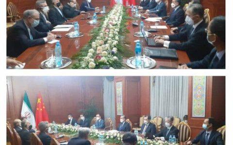 دیدار امیر عبداللهیان با وزیر امور خارجه چین