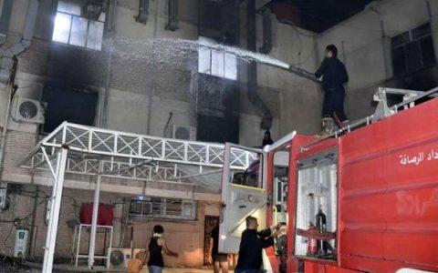 آتشسوزی در بیمارستانی در مرکز بغداد