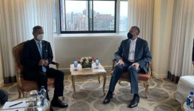 دیدار وزیر امور خارجه ایران با همتای سنگاپوری در نیویورک
