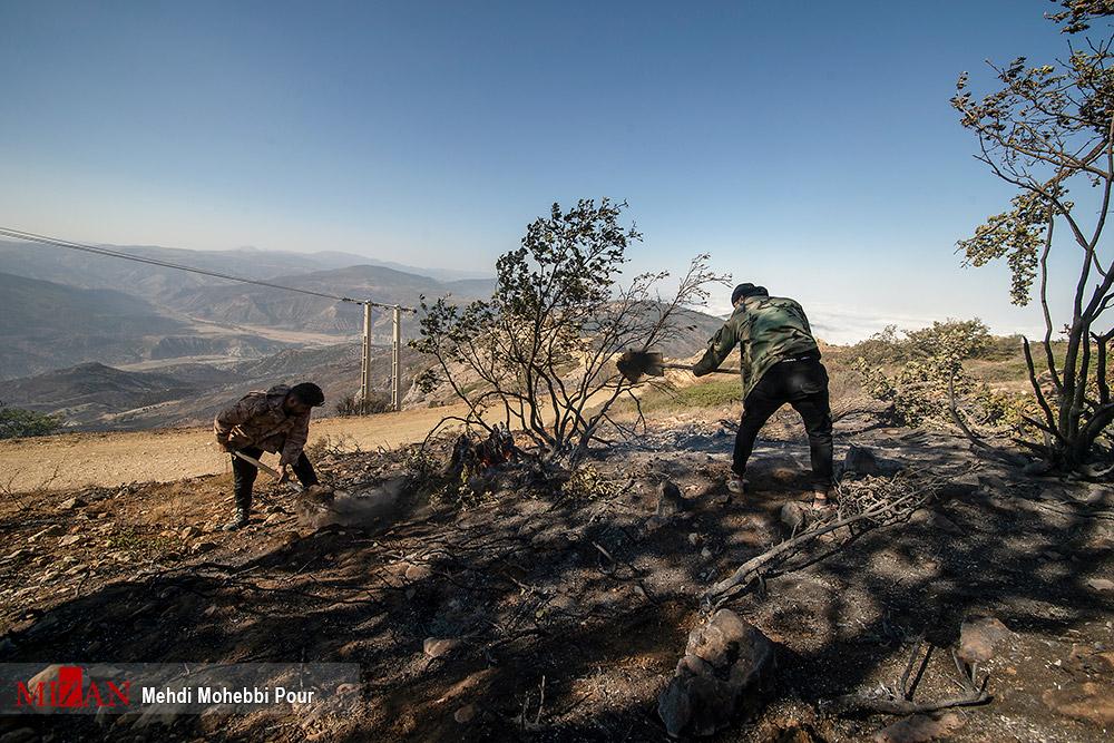 مهار آتش سوزی جنگلهای کردکوی