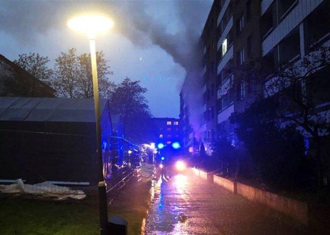 انفجار در سوئد دستکم ۲۵ مجروح برجا گذاشت/فیلم