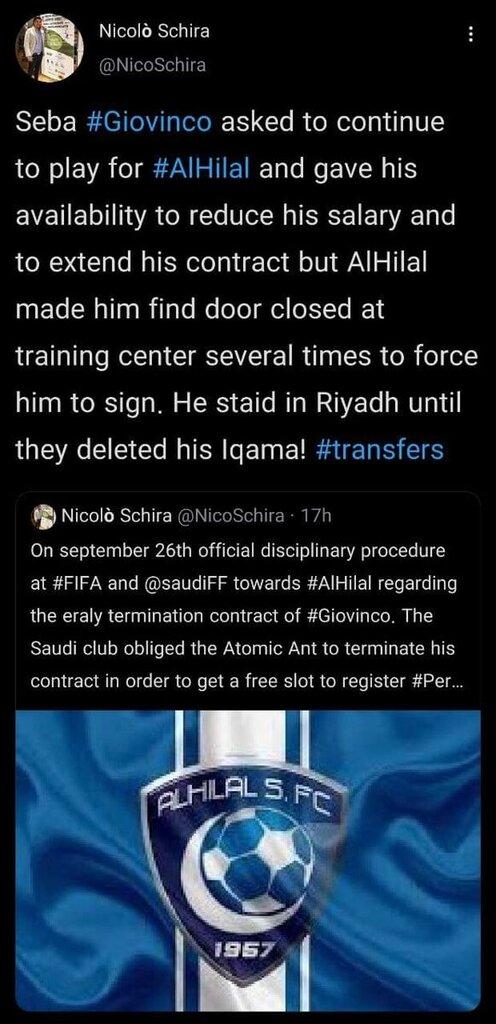 توئیت جدید خبرنگار مشهور ایتالیایی و جنجال حذف الهلال از لیگ قهرمانان آسیا