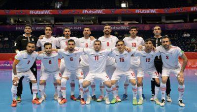 پیروزی تیم ملی فوتسال ایران در مقابل آمریکا