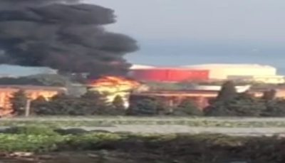آتشسوزی مهیب در نزدیکی تأسیسات نفتی جنوب لبنان