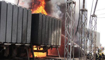 آتش سوزی پست برق در بندرعباس