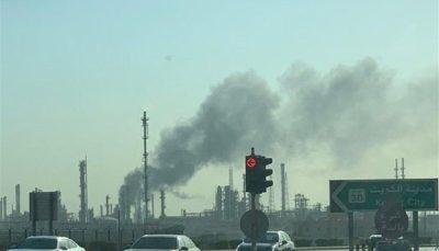 آتش سوزی گسترده در پالایشگاه نفتی کویت