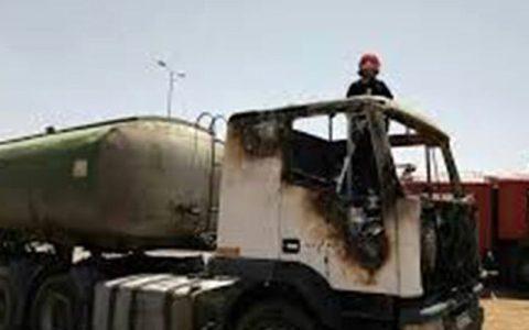 آتش گرفتن 4 کامیون در مرز دوغارون
