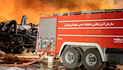 خسارت به جا مانده از آتشسوزی در کارخانه موادغذایی در زرندیه