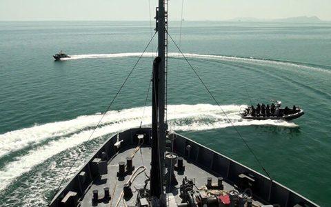رزمایش جمهوری آذربایجان در دریای خزر