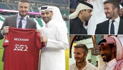 قرارداد نجومی قطری ها با دیوید بکام برای جام جهانی