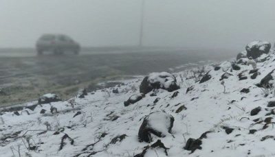 وضعیت هشدار برای کشاورزی البرز با بارش اولین برف پاییزی