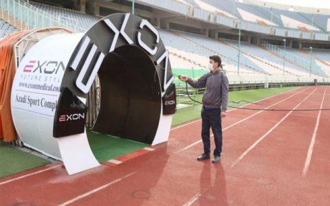 ورزشگاه آزادی تهران ضدعفونی شد