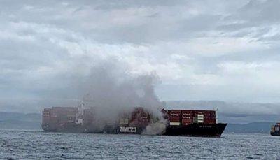 آتش سوزی یک کشتی اسرائیلی در نزدیکی کانادا