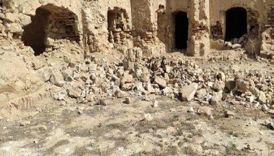 خسارت جدی زلزله به بناهای تاریخی اندیکا