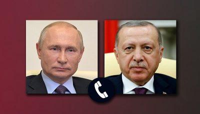گفتگوی تلفنی پوتین و اردوغان درباره مسایل منطقه ای