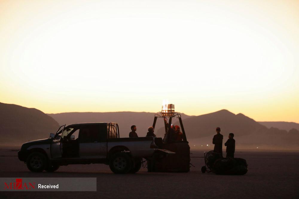 پرواز بر فراز صحرای وادی روم - اردن