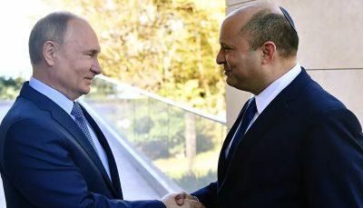 دیدار نخست وزیر رژیم صهیونیستی و پوتین برای بررسی برنامه هسته ای ایران